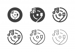 Music Record Player Icons - Multi Series