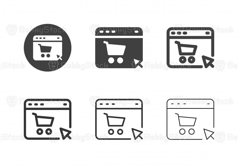 Web Shopping Icons - Multi Series