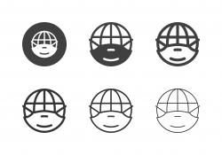 Global Medical Mask Icons - Multi Series