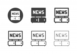 Watching News Icons - Multi Series