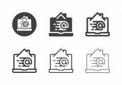 Email from Home Icons - Multi Series