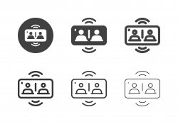 Mobile Video Conference Icons - Multi Series