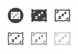 Sleeping Pillow Icons - Multi Series