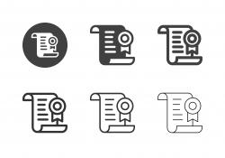 Award Certificate Icons - Multi Series