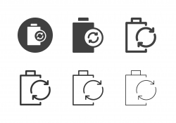 Reusable Battery Icons - Multi Series