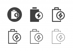 Electric Battery Icons - Multi Series