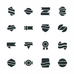 Label Silhouette Icons | Set 3