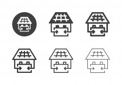 Solar Power Station Icons - Multi Series