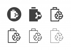 Battery Recycling Icons - Multi Series