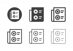 X Marks List Icons - Multi Series