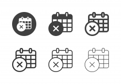 X Marking Calendar Icons - Multi Series
