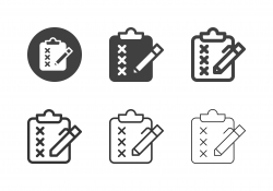 X Marks List Board Icons - Multi Series