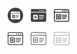 Online Rejection Icons - Multi Series