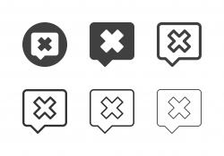 X Marks Square Bubble Icons - Multi Series