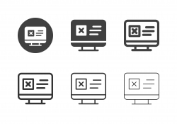 Online Cancellation Form Icons - Multi Series