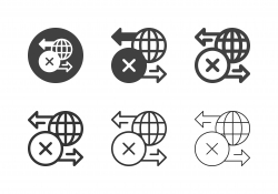 Global Business Mistake Icons - Multi Series