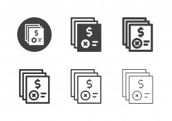 Loan Denied Icons - Multi Series