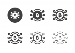 Bitcoin Network Icons - Multi Series