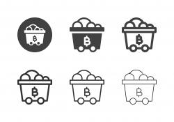 Bitcoin Mine Trolley Icons - Multi Series