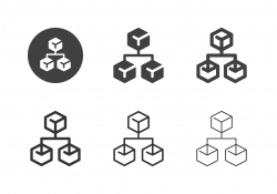 Cube Network Icons - Multi Series