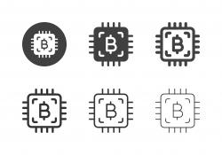 Bitcoin Processor Icons - Multi Series