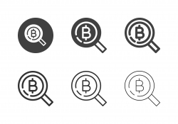 Searching Bitcoin Icons - Multi Series