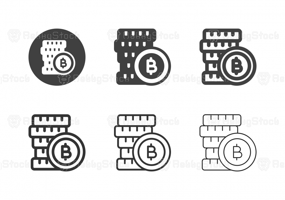 Bitcoin Stack Icons - Multi Series