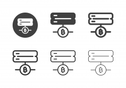 Bitcoin Server Icons - Multi Series