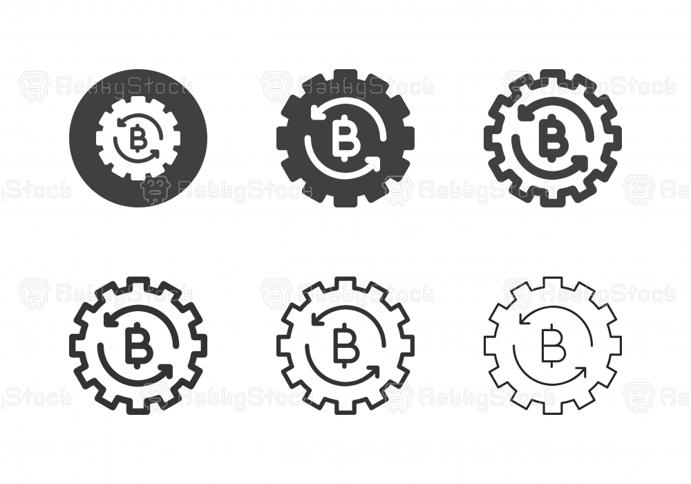 Bitcoin Management Icons - Multi Series