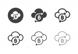 Bitcoin Cloud Icons - Multi Series