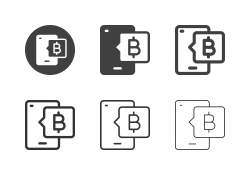 Mobile Bitcoin Icons - Multi Series