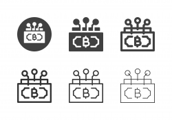 Cryptocurrency Network Icons - Multi Series