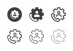 Telephone Worker Icons - Multi Series
