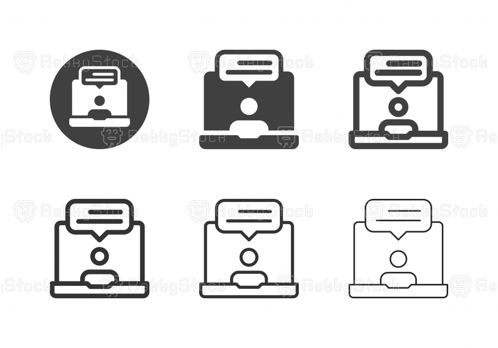 Online Customer Service Icons - Multi Series