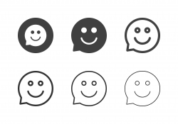 Smiling Bubble Icons - Multi Series