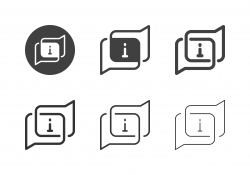 Information Bubble Icons - Multi Series