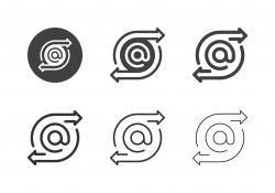 E-Mail Forwarding Icons - Multi Series