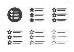Star List Icons - Multi Series