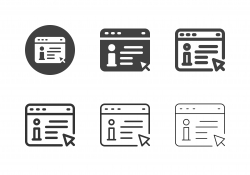 Online Information Icons - Multi Series