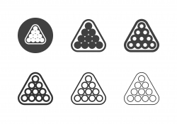 Snooker Triangle Icons - Multi Series