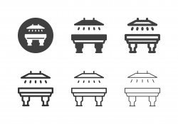 Snooker Table and Lamp Icons - Multi Series