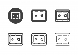 Snooker Table Top View Icons - Multi Series