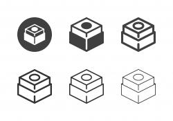 Snooker Chalk Icons - Multi Series