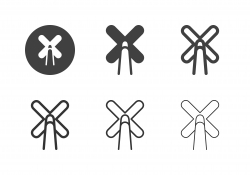 Snooker Cross Rest Icons - Multi Series