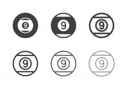 Nine Ball Icons - Multi Series