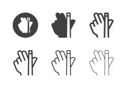 Hand Holding Snooker Cue Icons - Multi Series