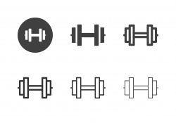 Weightlifting Equipment Icons - Multi Series