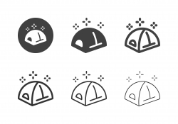 Dome Tent Icons - Multi Series