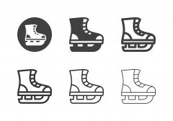 Ice Hockey Shoe Icons - Multi Series