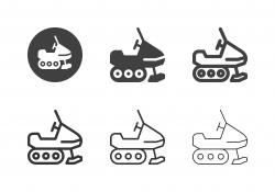 Snowmobiling Icons - Multi Series